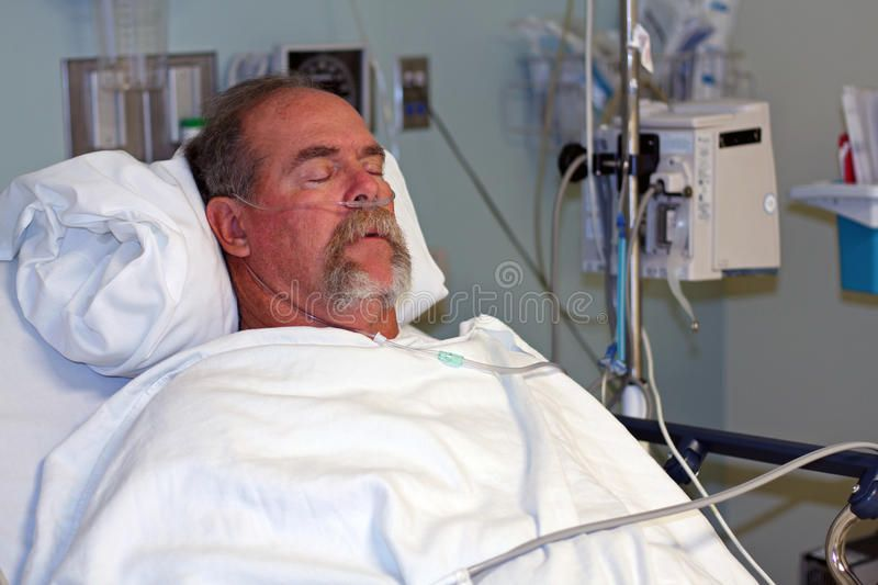 Man In Hospital Bed Asleep A Man Is Asleep In Hospital Bed He Is A Patient In Sponsored Bed Asleep Man Hospital Emerge Hospital Bed Hospital Man