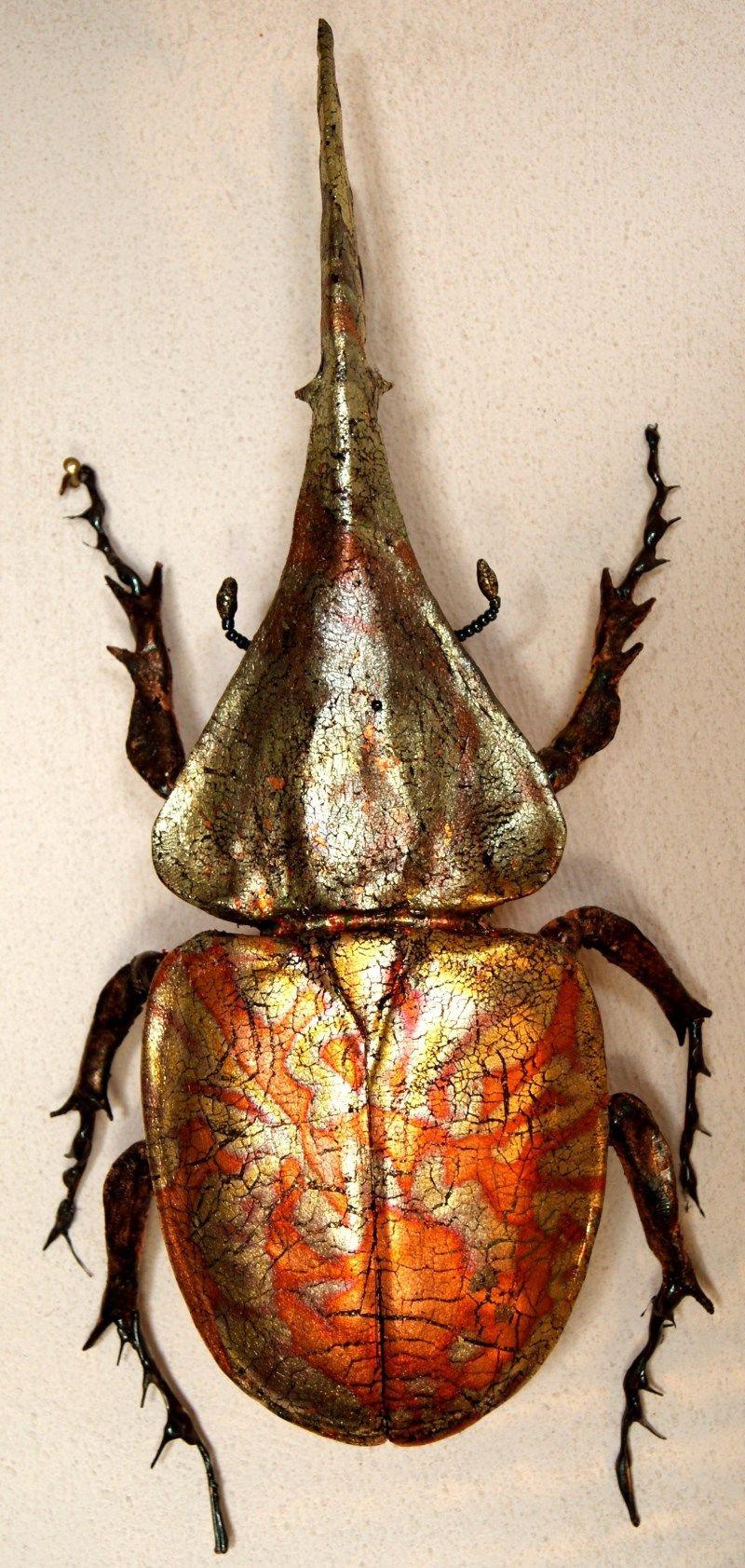 MATANA Dynastes hercules - Fimo und Schlagmetall | #BugZ | Pinterest ...