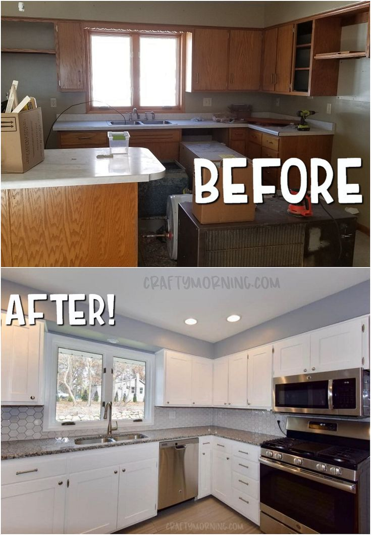 Shaker Style Cabinet Door Makeover (With images) | Diy ...
