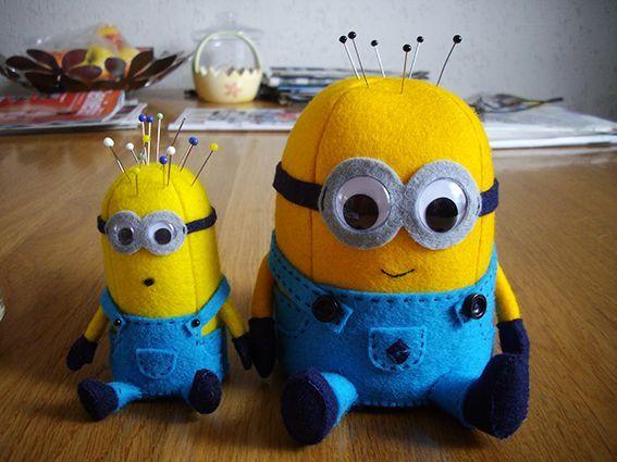 Minion Pin Cushion | Craft Ideas | Pinterest | Nadelkissen, Filz und ...