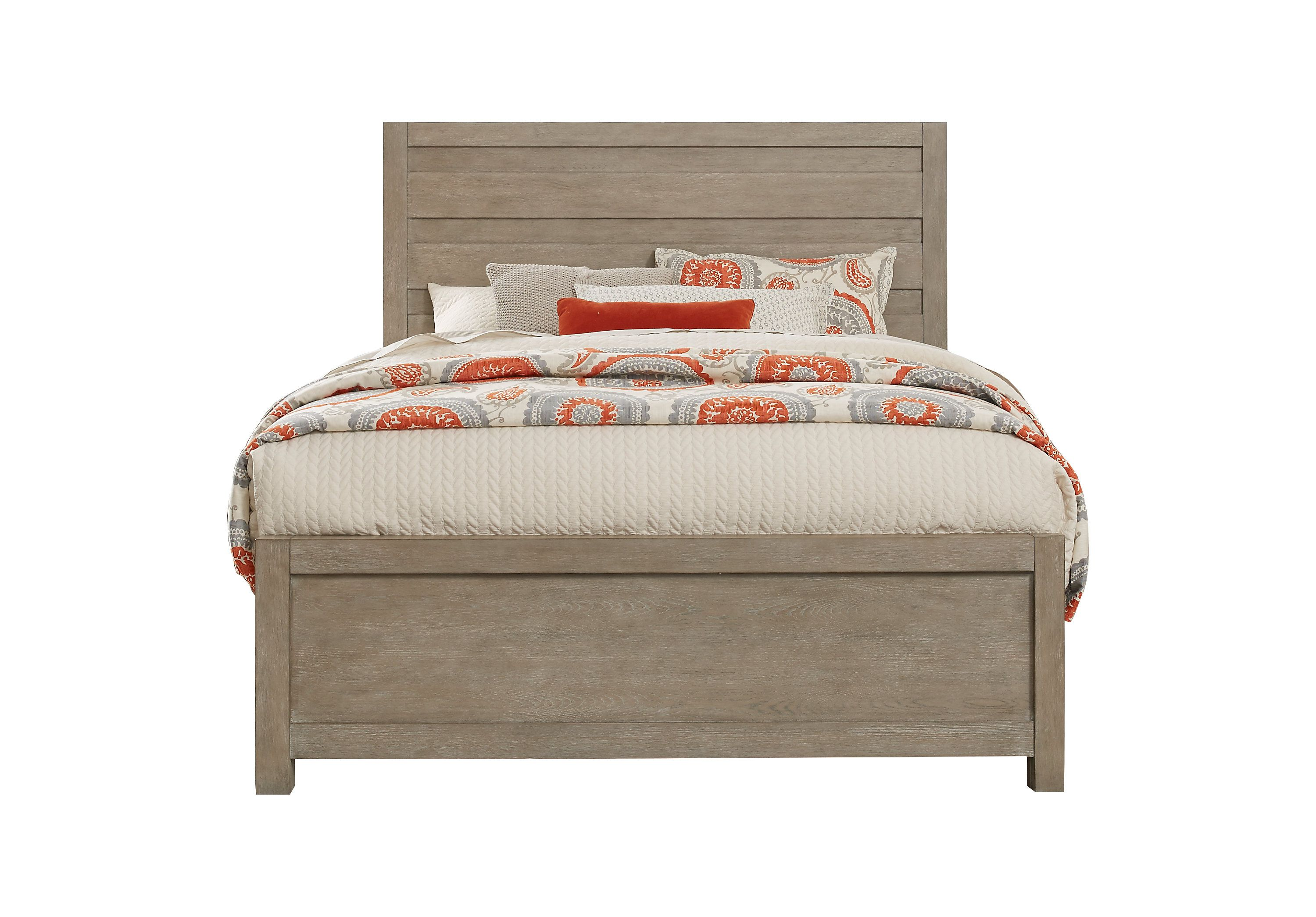 Barringer Place Gray 3 Pc Queen Panel Bed Upholstered Beds Bed