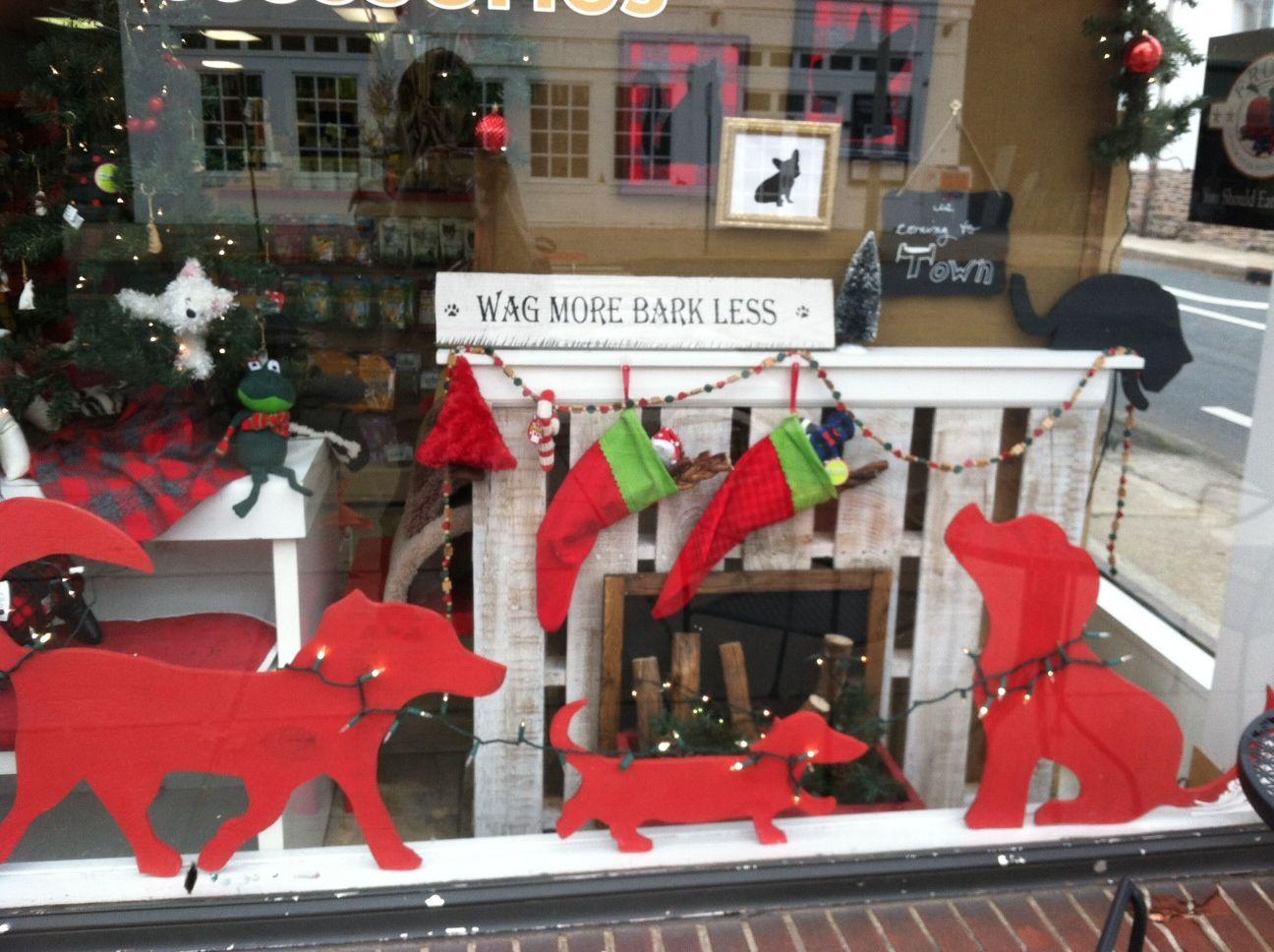 Pet Store Window Pet Store Display Christmas Shop Window Christmas Window Display
