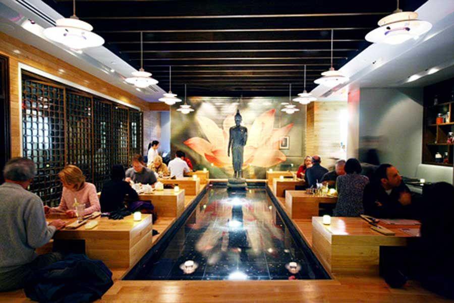 Modern Elegant Thai Restaurant Interior Design Sea Las Vegas Under Table Restaurant Interior Bar Restaurant Interior Modern Interior Design