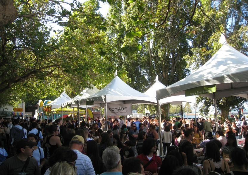 """Ghirardelli Square Chocolate Festival. This family-friendly event features prominent local chefs creating chocolate inventions during cooking demonstrations, live musical entertainment, children's activities and the popular """"Earthquake"""" Ice Cream Sundae Eating Contest."""