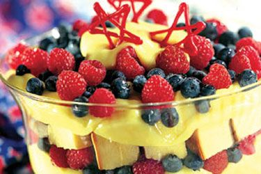 Berry Patriotic Pound Cake Trifle