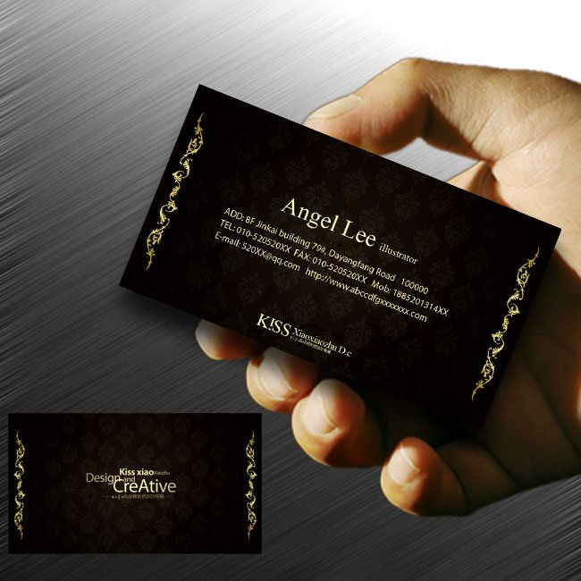 Business Card Design To Enjoy Black Templates PSD Download