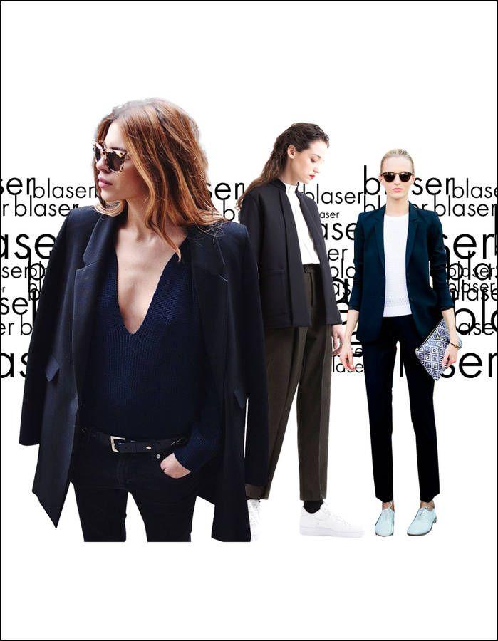 Blazer noir   25 façons de porter un blazer noir - Elle   Question ... 274bdab7225d