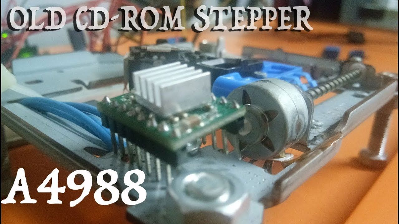 cd-rom stepper With A4988 | Arduino tutorial | Sensor