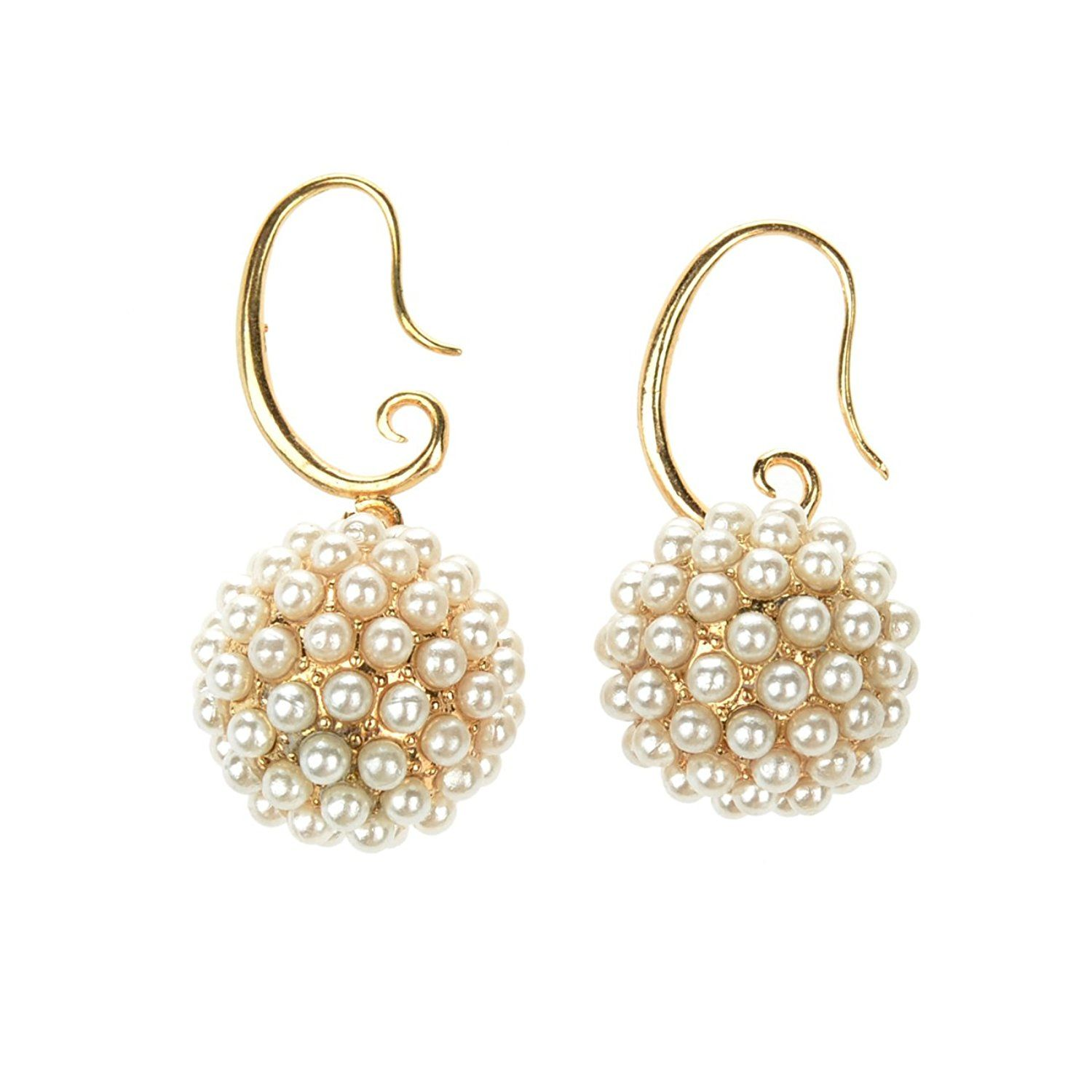 StarrY Round Lucky Pearl Earrings *** Insider's special review you can't miss. Read more  : trend jewelry 2016