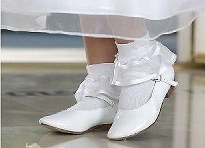 419583181 Baby-Toddler-Girl-White-Patent-Leather-Shoes-Size-3-Infants ...