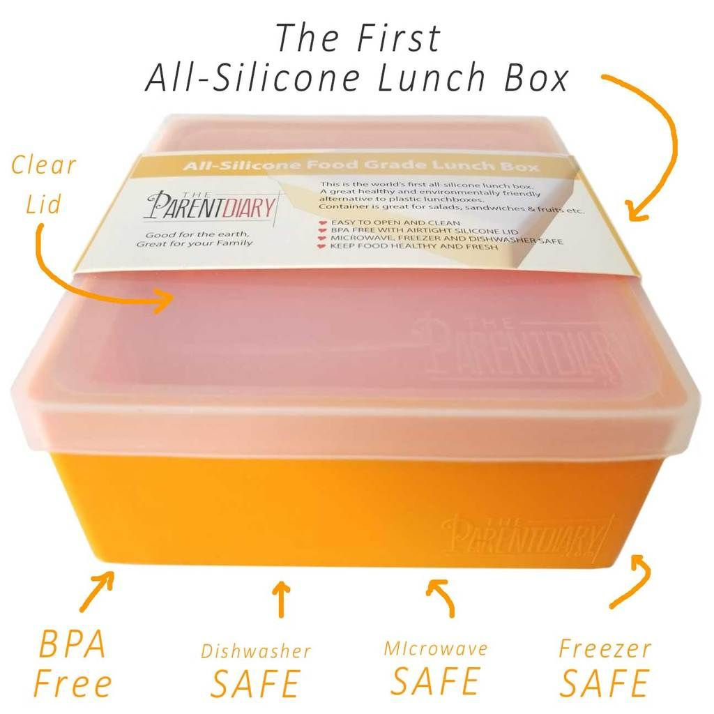 Buy Silicone Lunch Box, Food Container, Salad Container