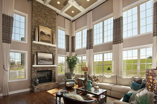 High Ceilings Long And Simple Curtains Home Dream Living