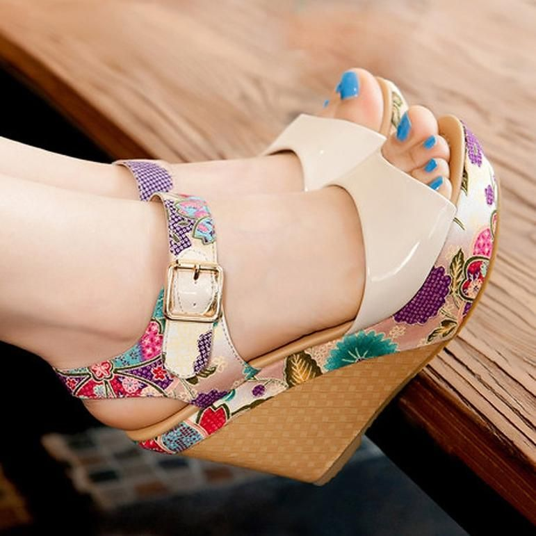 Super Floral Open Toe High Heels is part of Womens shoes wedges, Casual shoes women, Womens summer shoes, Summer sandals wedge, Womens sandals, Summer dresses shoes - Department Name Adult Item Type Sandals With Platforms Yes Heel Height Super High (8cmup) Outsole Material Rubber Platform Height 35cm  Classic Women Sandals Summer Shoes Woman Platform Wedges  Slippers Sandalias Zapatos MujerInsole Material PU Side Vamp Type Open Lining Material PU Back Counter Type Back Strap Heel Type Wedges Closure Type Hook & Loop Occasion Casual Upper Material PU Pattern Type Floral Fit Fits true to size, take your normal size Style Fashion Sandal Type Basic Model Number Sandals Fashion Element Flower Classic Women Sandals Summer Shoes Woman Platform Wedges Floral High Heels Open Toe Slippers Sandalias Zapatos Mujer