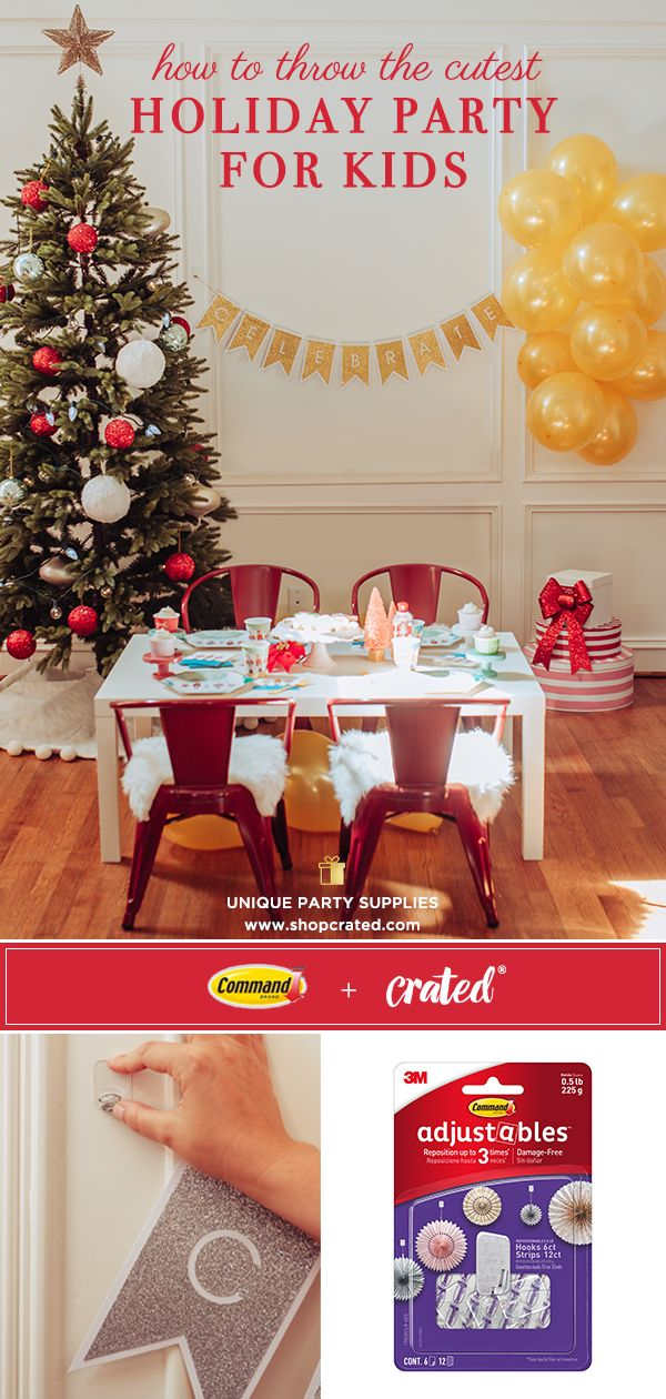 SHOP the best Nutcracker party decorations and get kids Christmas table ideas from Crated® to simplify your party! Every party box and party banner purchase includes a complimentary set of Command® Adjustables™ Clips to help hang your banner! #nutcracker  #christmasparty  #christmaspartyideas  #christmaspartyideasforkids