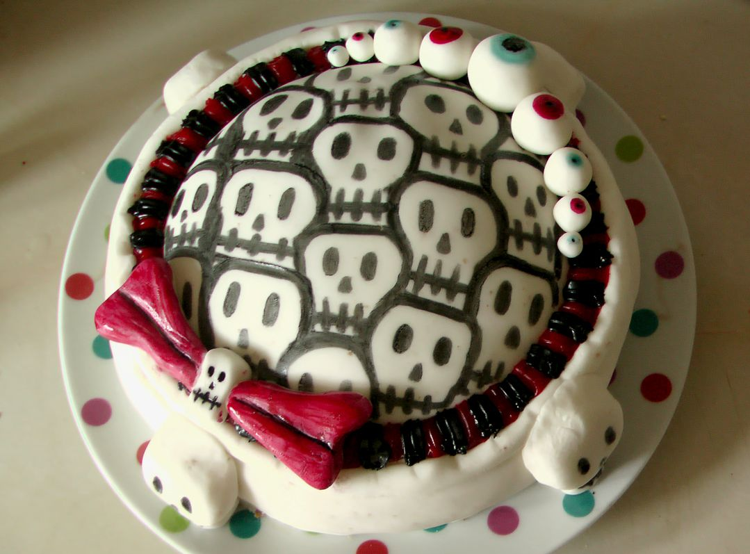 Easy to make Skull Eyes cake My Style Pinterest Spooky food - Halloween Cake Decorating Ideas