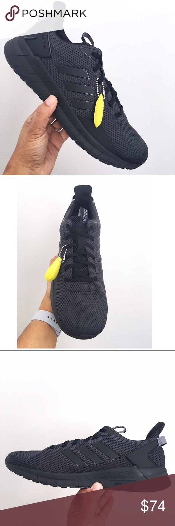 best website 9a630 3450a Adidas Mwns Questar Ride Black Running Shoes Brand new in Box with lid Adidas  B44806 - Cloudfoam midsole - Sockliner - Upper Mesh adidas Shoes Athletic  ...