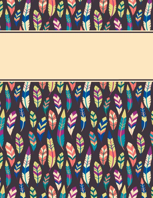 Free Printable Feather Binder Cover Template Download The In JPG Or PDF Format At