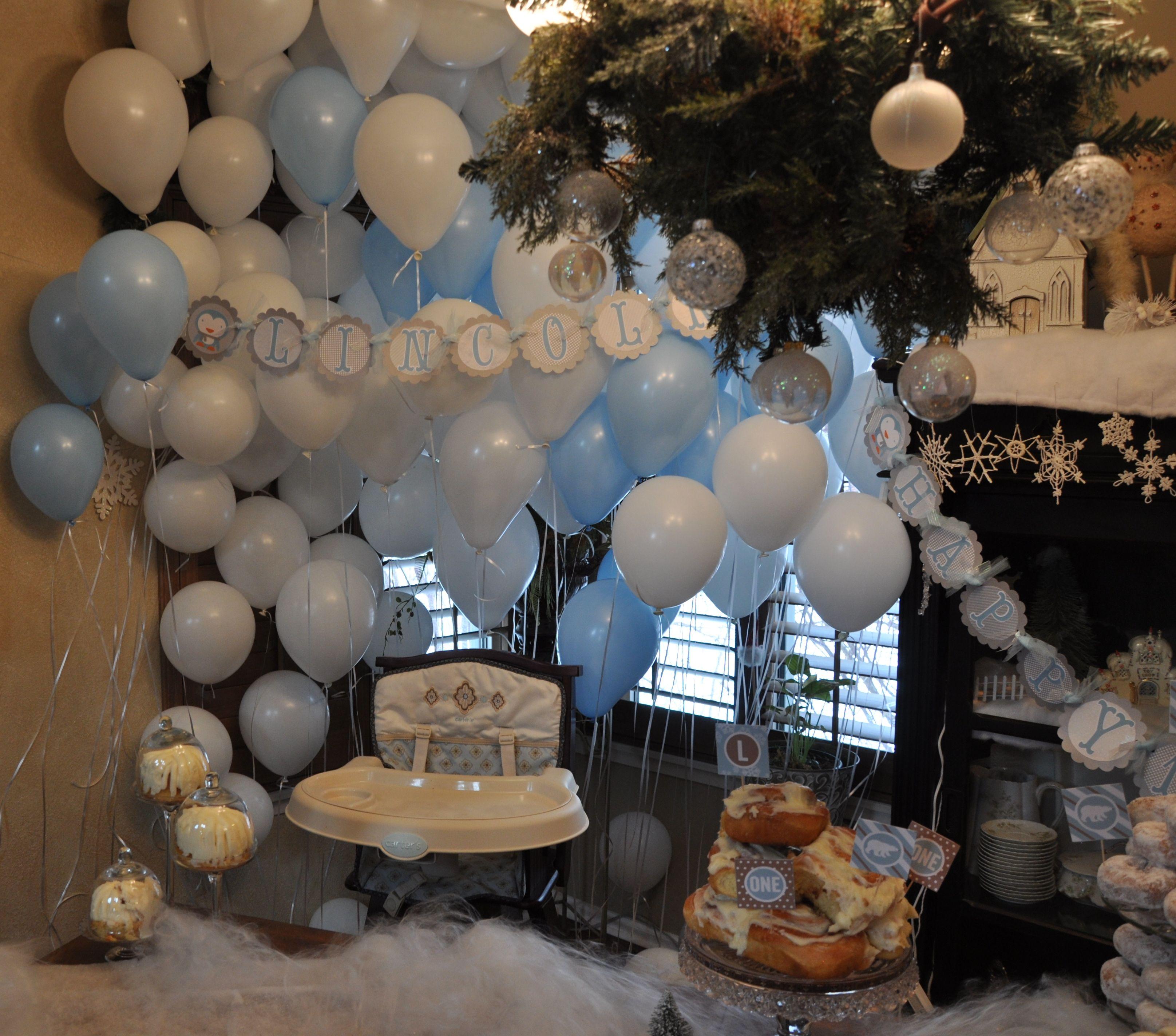 Winter Wonderland 1st Birthday. Little Boy First Birthday