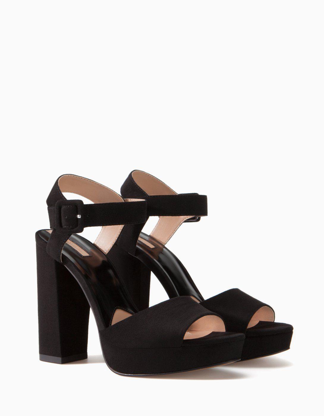 Sandalia MujerStradivarius Tacón Plataforma De Zapatos 0Ow8nPXk