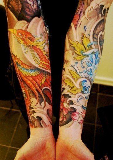 6 Sheets Wrist Body Art Henna Tattoo Stencil Flower: Pin By Shawn Stafford On Tattoo - Sleeves