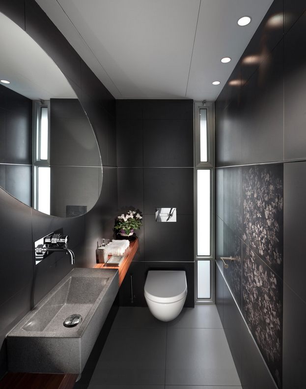 Black Bathroom Ideas For A Stylish Remodel Concrete Bathroom Design Bathroom Design Small Bathroom Design Inspiration
