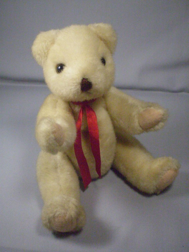 Super Rare Ty Beanie Baby Teddy Bear Jointed Plush 1990 Brown White Tushtag  11