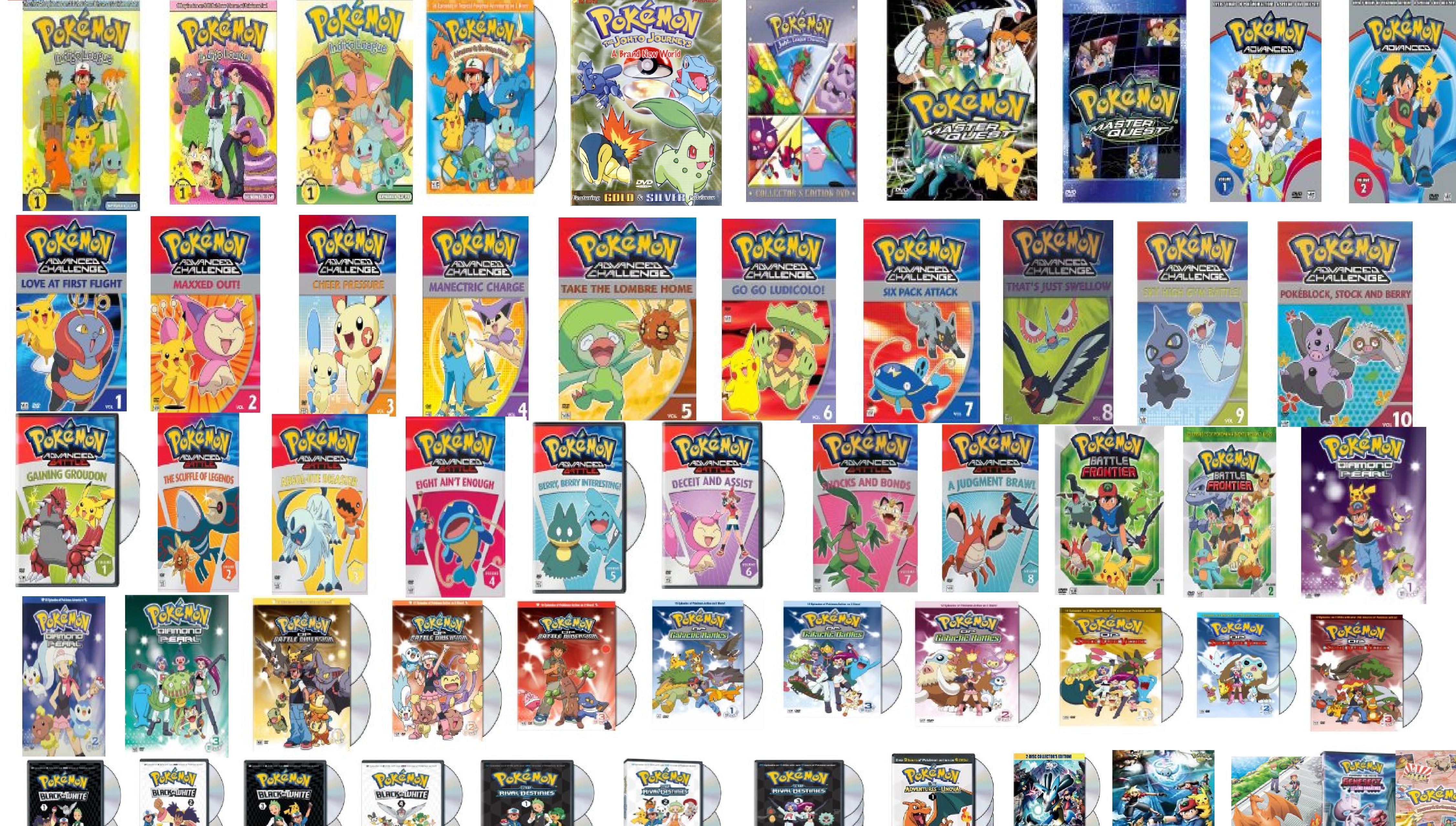 Pokemon Complete series plus movies Origins and the orange