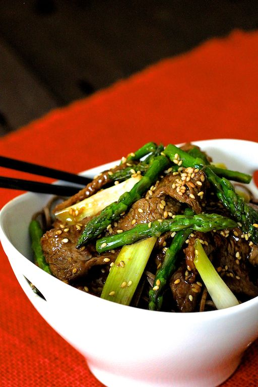 Sesame Beef and Asparagus Stir Fry has ingredients easily found in any supermarket and can be pulled together quickly when the Asian food craving hits!