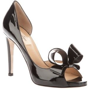 valentino bow detail pump black shoes fashion