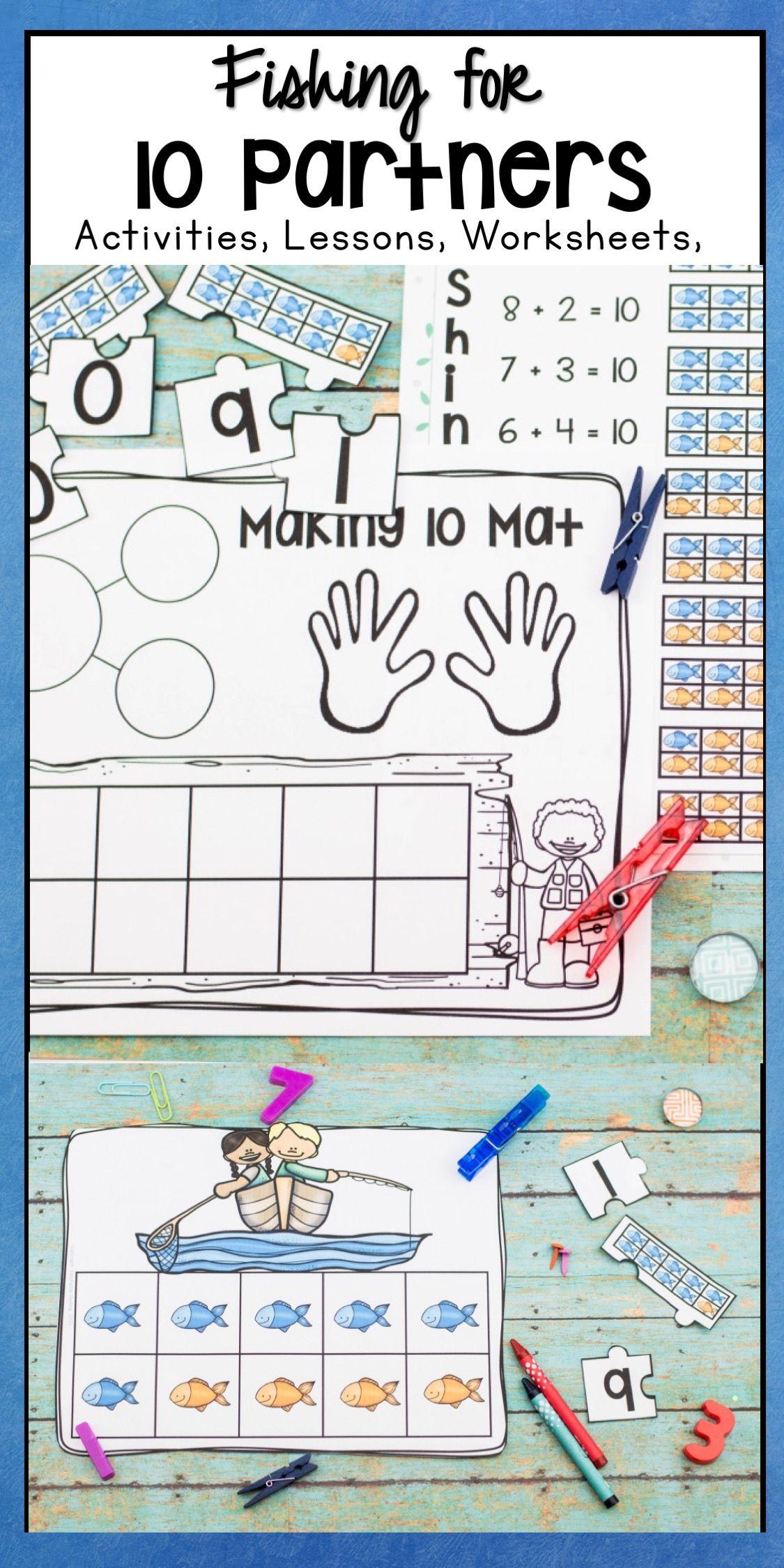 Making 10 Ten Partners Worksheets Activities Lesson