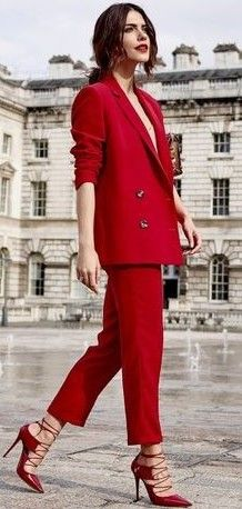 Red Suit Source Red Trends Outfits Fashion Trending Outfits