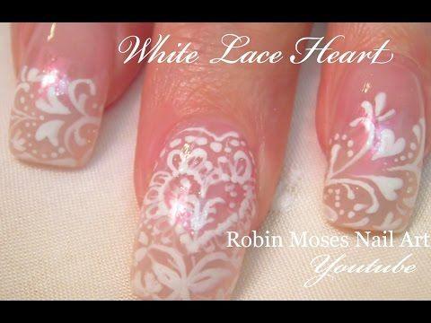 Easy Nail Art For Beginners Diy White Flowers For Short Nails