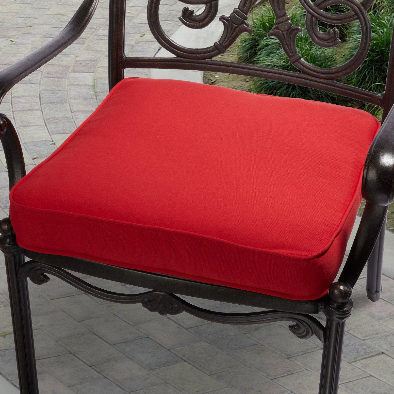 Mozaic Company Veranda Outdoor Corded Chair Cushion Outdoor Seat Cushions Indoor Outdoor Chair Outdoor Chair Cushions