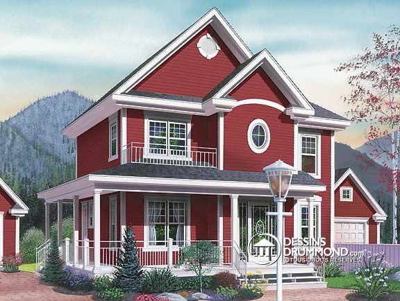 Plan de Maison unifamiliale W2737, Du0027un charme incontestable, ce