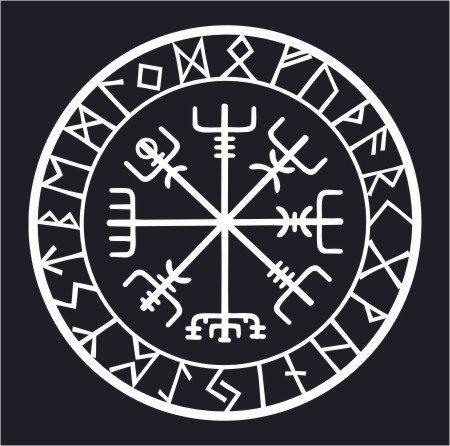 viking runes vegvisir compass talisman boat cradles pinterest runique merde et al atoire. Black Bedroom Furniture Sets. Home Design Ideas