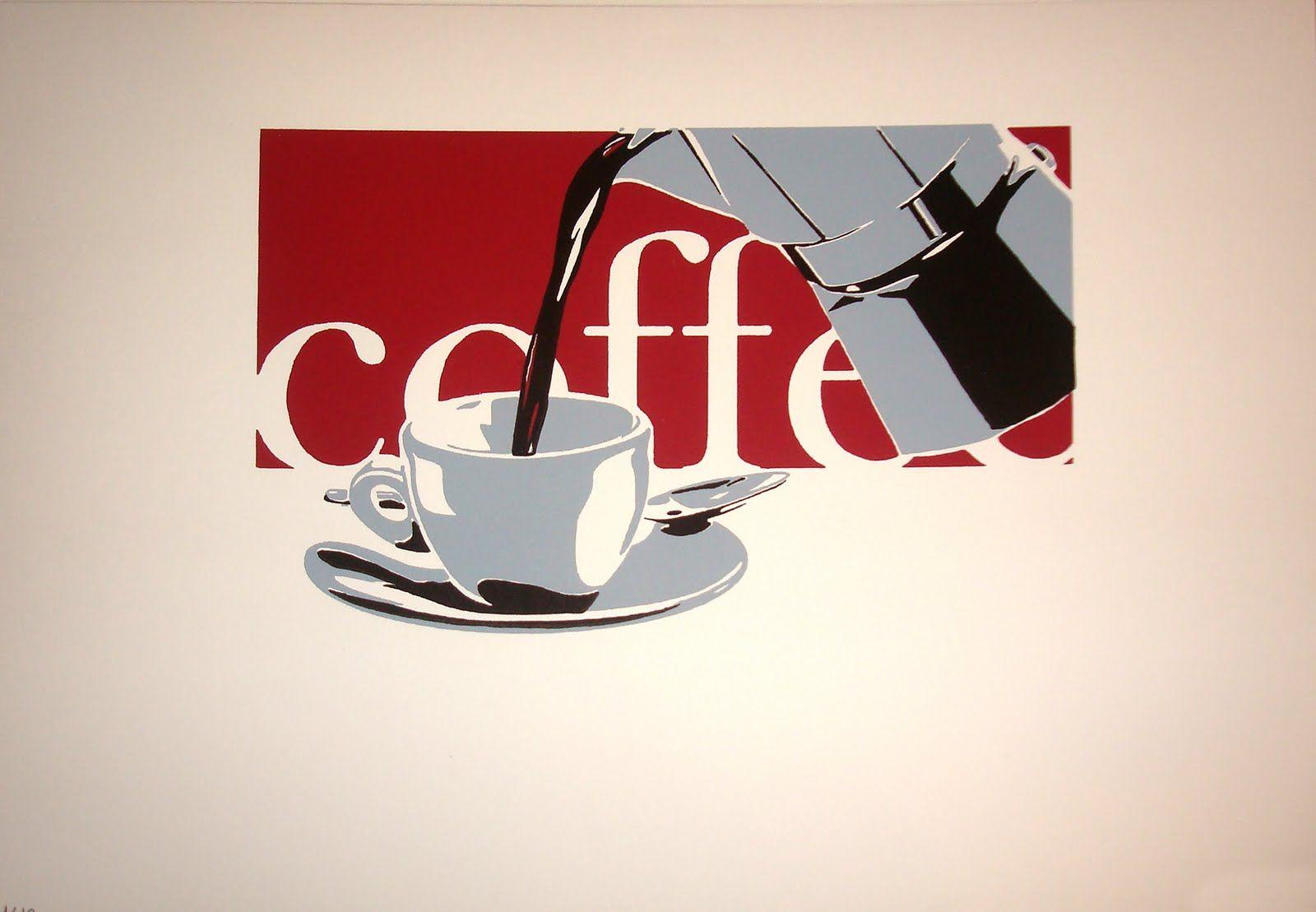 Coffee (2007). Serigrafía sobre papel (29,7 x 42 cm.).