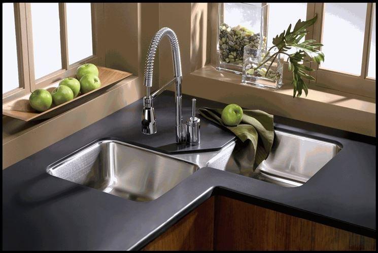 Lavello ad angolo - Componenti cucina - Lavandino angolare ...