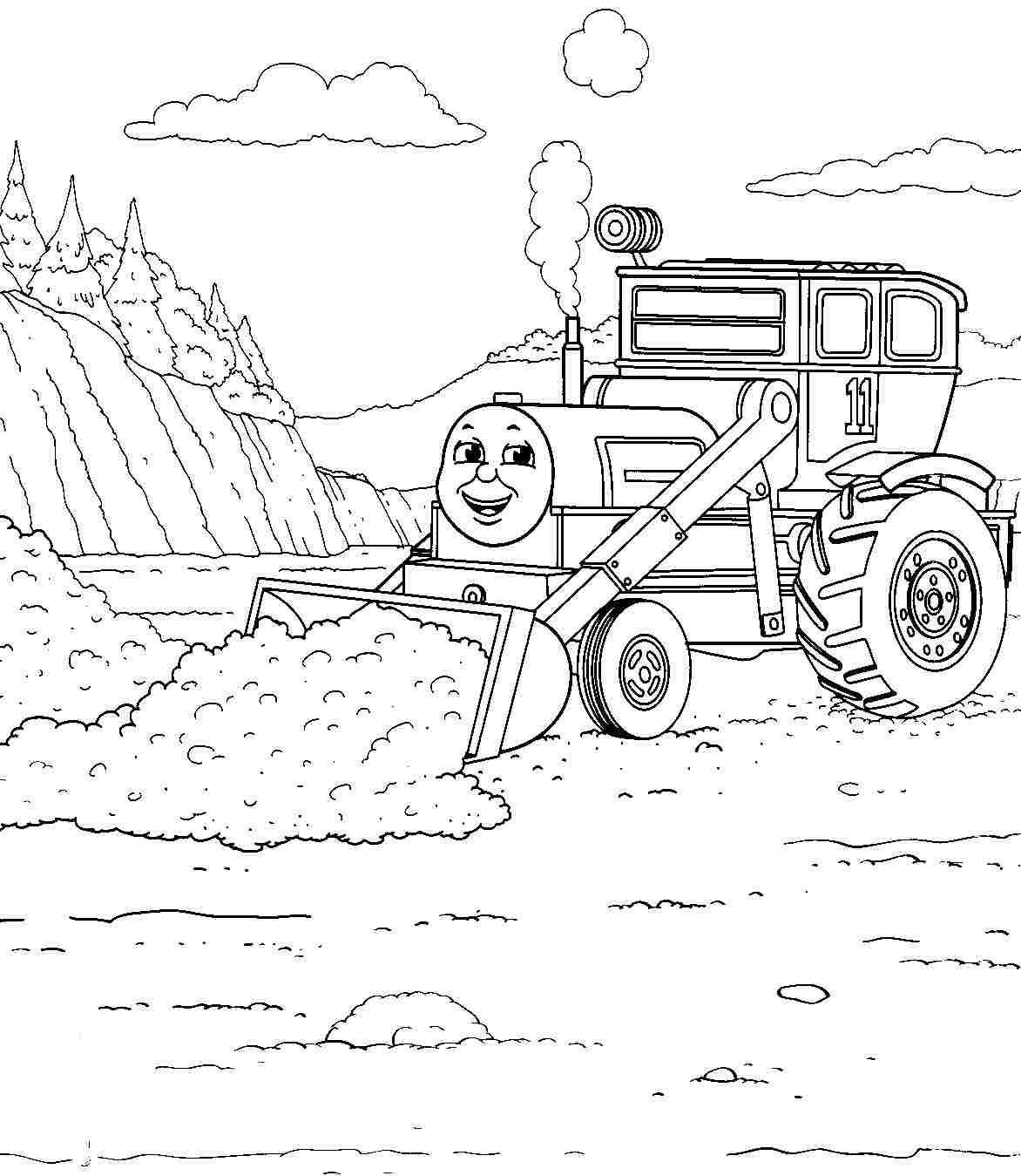 printable free cartoon thomas the train and friends coloring pages