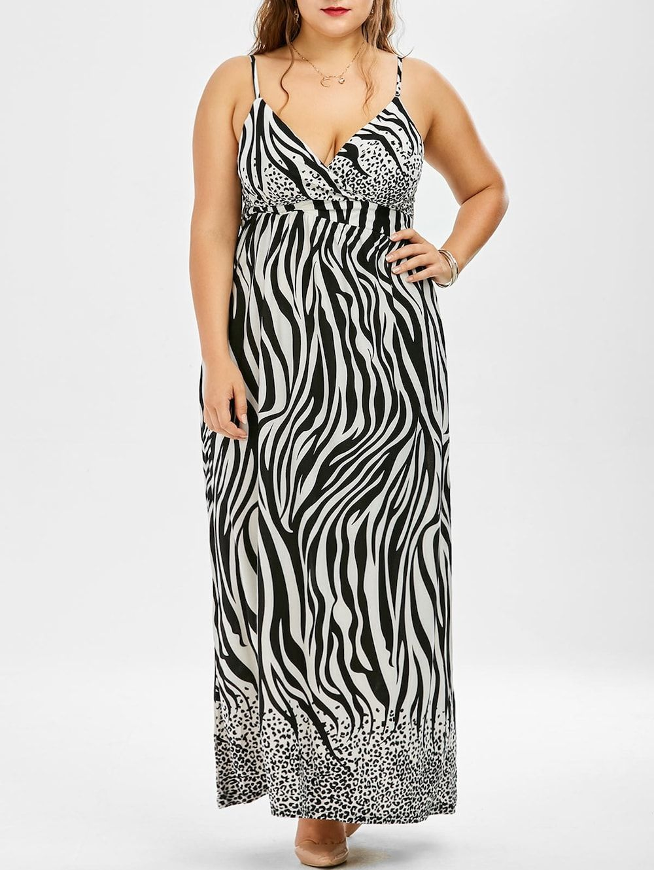Zebra Print Plus Size Maxi Dress Zebra Print Maxi Dresses And