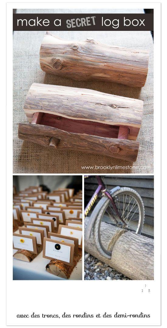 22 DIY avec une bille de bois, des rondins et des rondelles Crafts - peinture bois et fer