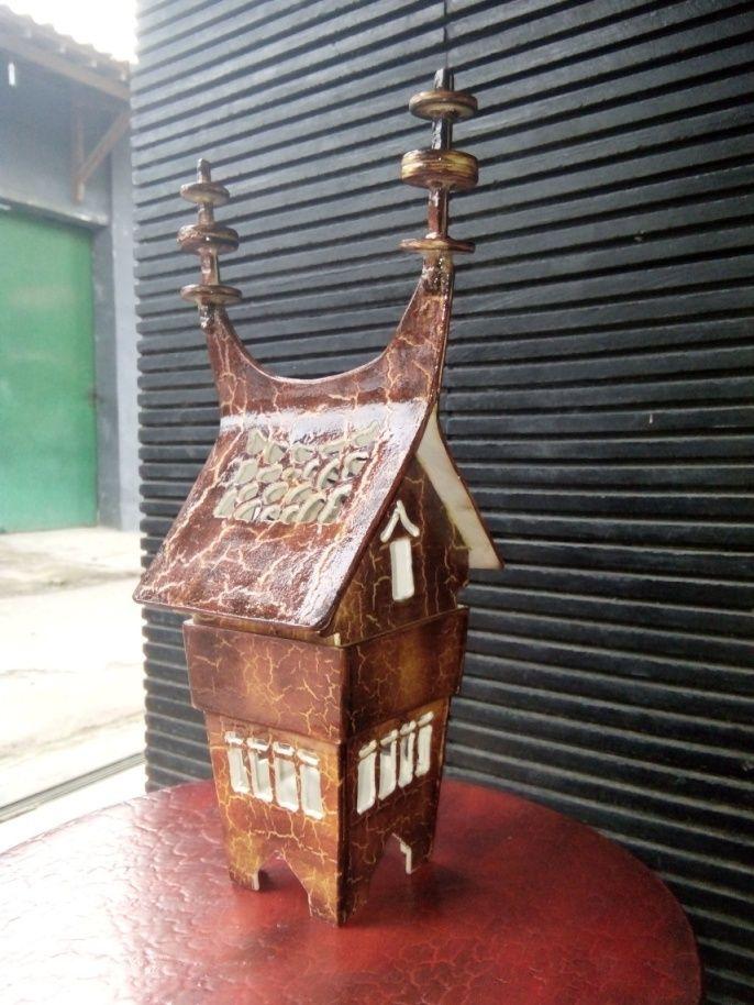 Miniatur Rumah Gadang Sumatera Barat Dengan Bahan Pvc Miniatur