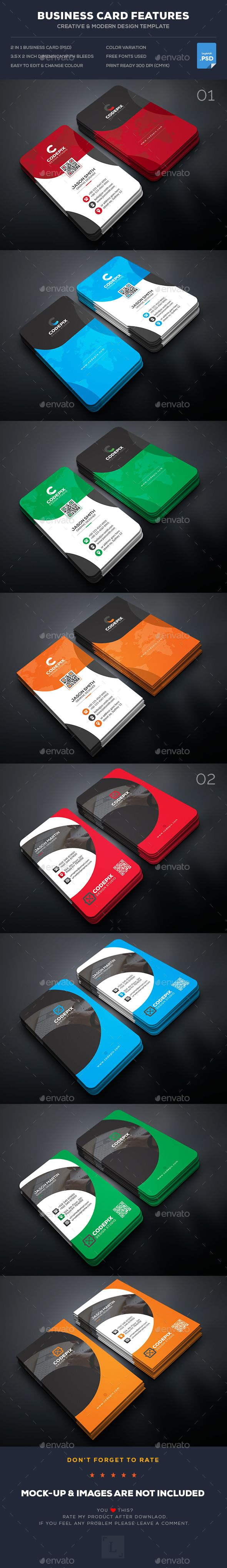 Business Card Bundle | Business cards, Business and Print templates