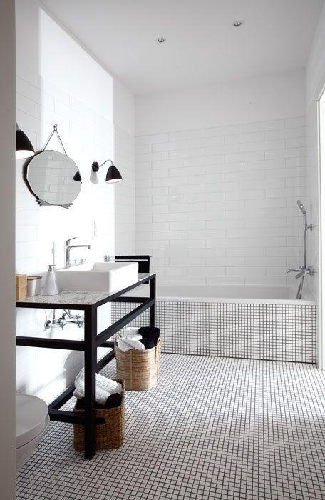 30 bathroom floor mosaic tile ideas /bathroom Pinterest - joint noir salle de bain