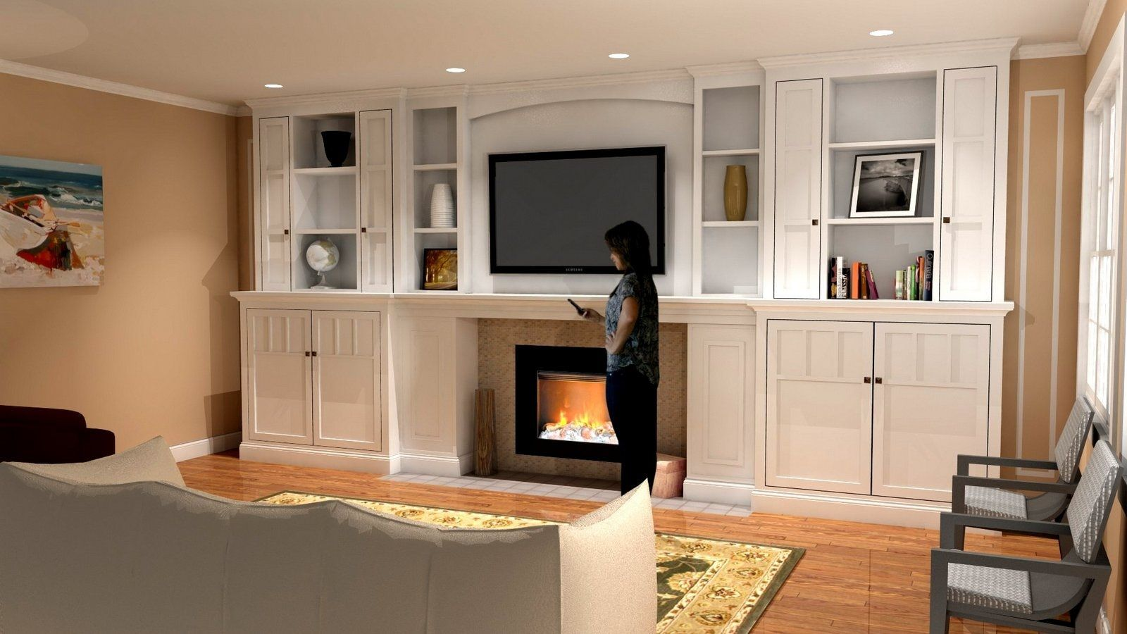 Cabinets Either Side Of Fireplace Google Search Fireplace