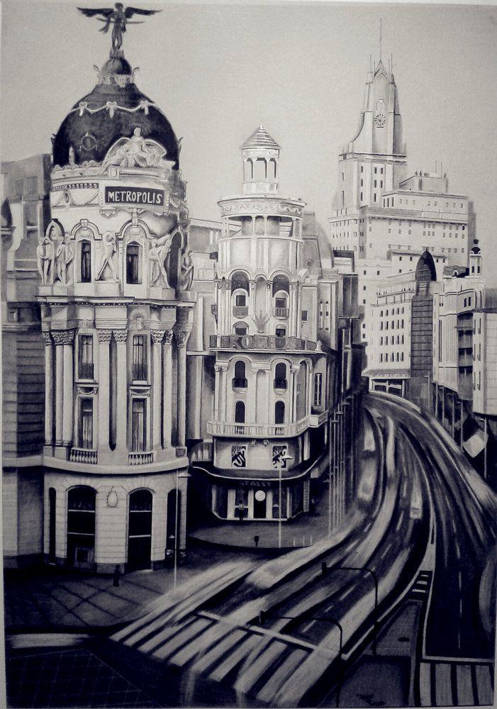 Madrid , por jezulini-del-pepino en Paisajes | Dibujando.net  #temática-general #urbanos #tradicional #clásico