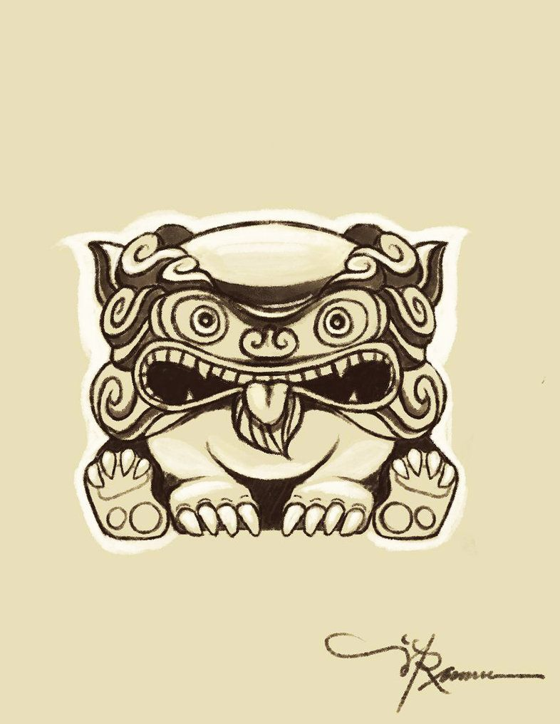 okinawan shisa sketch for tattooomg he is so stinking cute tattoos pinterest sketches. Black Bedroom Furniture Sets. Home Design Ideas