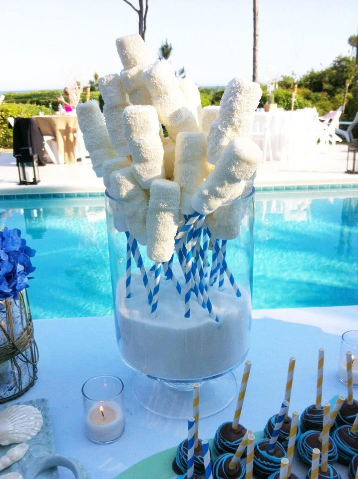Beach Wedding Themed Dessert Table By Cake All Things Yummy In