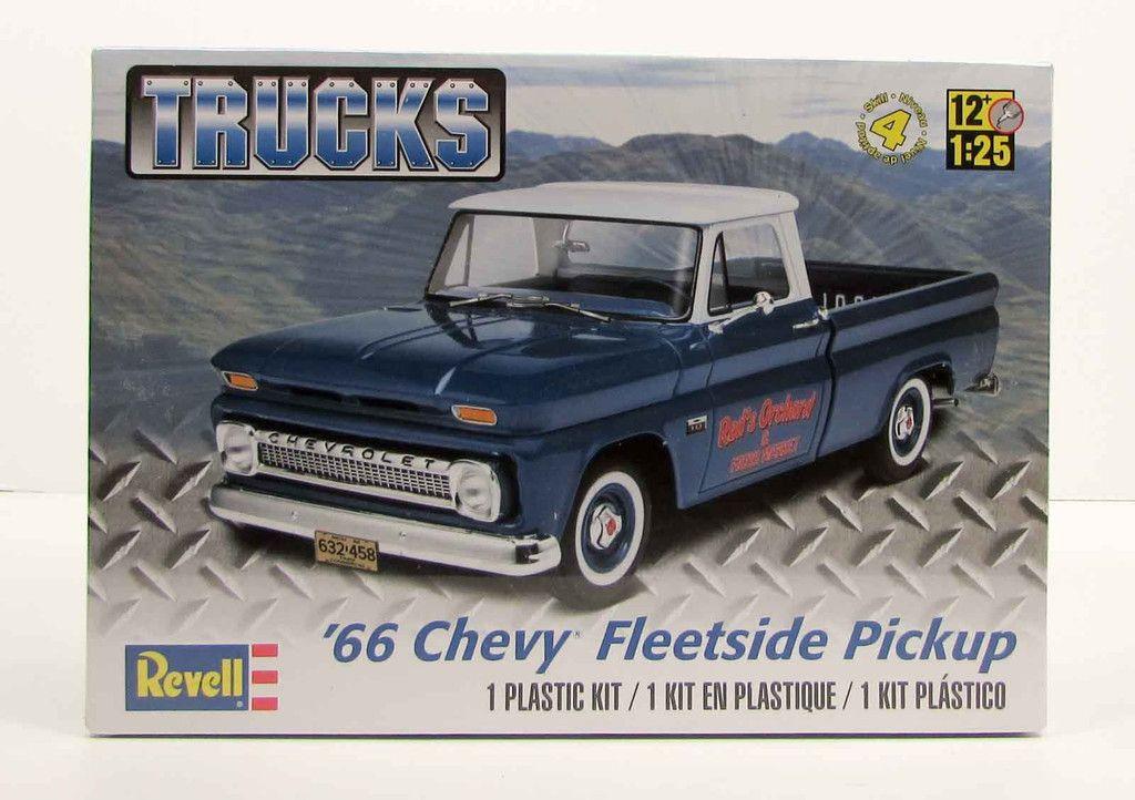 1966 chevy fleetside pickup revell 85 7225 1 25 new truck model kit models model car and gmc. Black Bedroom Furniture Sets. Home Design Ideas