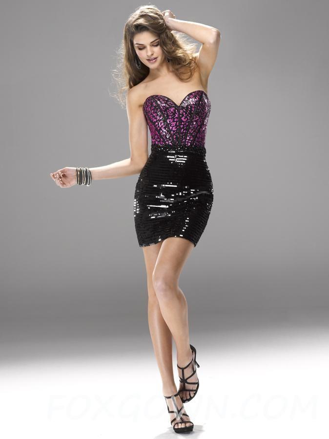 sweetheart neckline prom dress mini-skirt | prom dresses i love ...