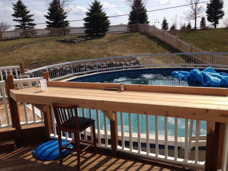 Outdoor Bars Built On Deck Building A Deck Decks Backyard Diy Deck